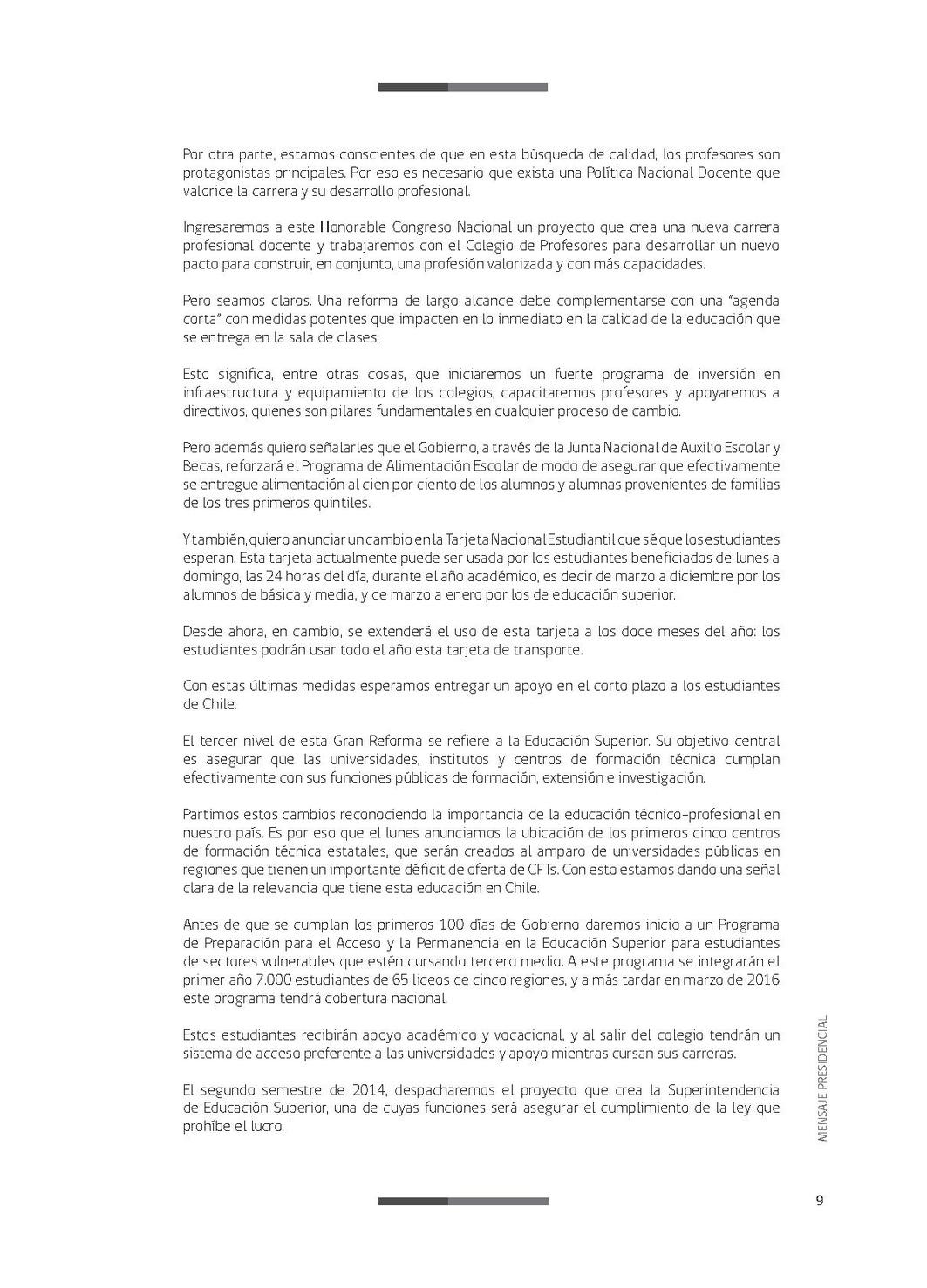Página:Mensaje Presidencial 21 de Mayo de 2014.pdf/9 - Wikisource