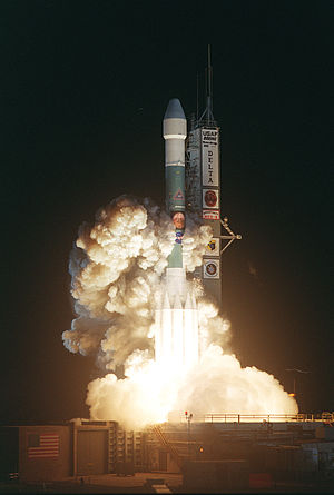 Delta II - Delta II Heavy (7925H-9.5) lifting off from pad 17-B carrying MER-B