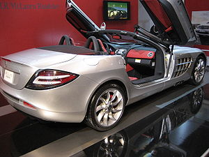 Mercedes-Benz SLR McLaren - Rear view of the SLR McLaren Roadster