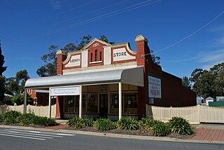 Merrigum Town in Victoria, Australia