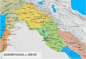 Middle Assyrian Empire - Mesopotamia and Middle Assyrian Empire, c. 1200 BC.
