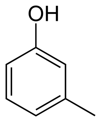 Arene substitution pattern - Image: Meta cresol 2D skeletal