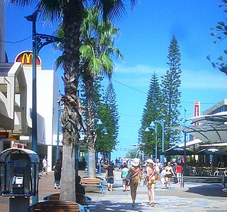 Surfers Paradise Meter Maids - Meter maids walking down Cavill Avenue to the beach.