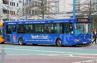 Cardiff Bus - Image: Metrider bus, Cardiff Bus