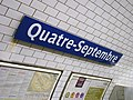 Metro de Paris - Ligne 3 - Quatre-Septembre 02.jpg