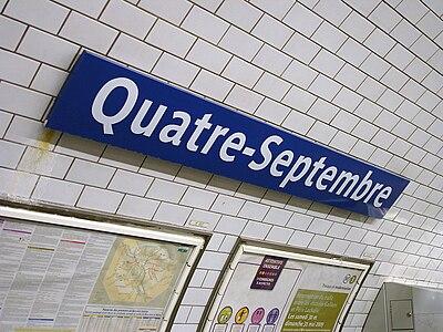 Quatre-Septembre (Métro Paris)