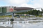 MiG-23 pair and a MiG-21 at the Patriot Museum (38070137696).jpg