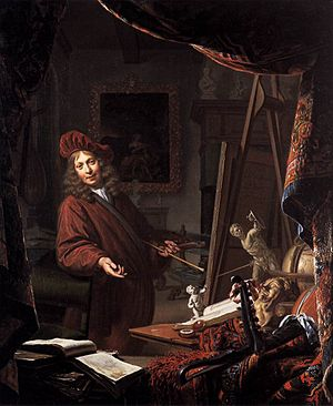 The Art of Painting - The Painter's Studio by Michiel van Musscher