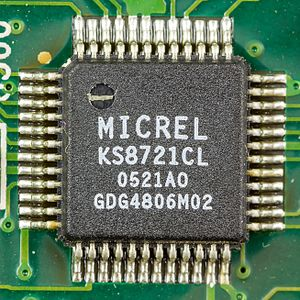 PHY (chip) - Micrel KS8721CL - 3.3V Single Power Supply 10/100BASE-TX/FX MII Physical Layer Transceiver