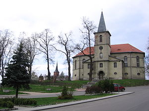 Międzybórz - Protestant church