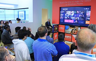 USA Today - Miguel Vazquez from USA Today shows off the publication's Metro App, 2012.