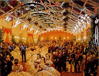 Grand Duchy of Finland - Ball in Helsinki in honour of Alexander II, 1863
