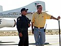 Mike Melvill and Burt Rutan speak to the media after the first flight into Space photo D Ramey Logan.jpg