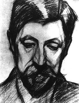 Mikhail Matyushin - Portrait by Elena Guro, c1900