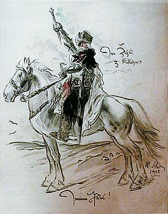 Jan Žižka - A painting by Mikoláš Aleš showing Jan Žižka as hussite general