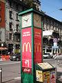 Milano piazza Lima orologio.JPG