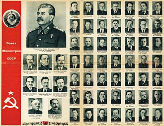 Ministries of the Soviet Union - Ministers of the USSR during the Stalin era (1946-1953).