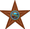 The Minnesota barnstar (alt - with state seal)
