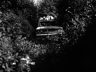Murders of Chaney, Goodman, and Schwerner - The station wagon on an abandoned logging road along Highway 21