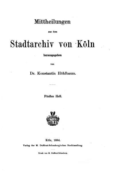 File:Mitteilungen aus dem Stadtarchiv von Köln 1884-5.djvu