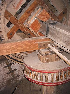 Bilinga (wood) - Windmill machinery at De Hoop - Beams are made of bilinga