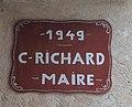 Montagna-le-Reconduit - Plaque C. Richard maire 1949.jpg