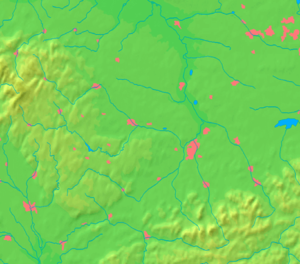 Příbor - Image: Moravian Silesian Region background map