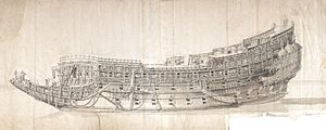 HMS Sovereign of the Seas - The Morgan-Drawing by Willem van de Velde the Younger