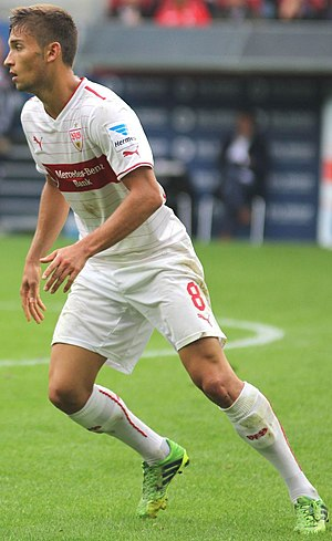 Moritz Leitner - Moritz Leitner playing for VfB Stuttgart.