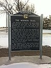Mormon Trail Marker, Central City, Nebraska