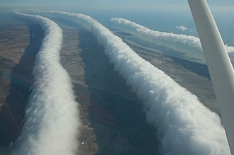 Morning Glory cloud - A Morning Glory cloud formation between Burketown and Normanton, Australia.