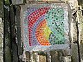 Mosaic set into dry stone wall at junction of Cam Road and Bands Lane - geograph.org.uk - 481011.jpg