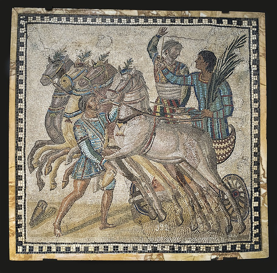 Mosaic with Chariot