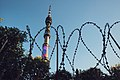 Moscow, barbed wire fence around the Ostankino Tower (21059601058).jpg