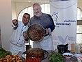 Moshe Basson and Art Smith at The Eucalyptus restaurant, Jerusalem.jpg