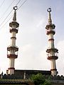 Mosque towers in Thanjavur (6650476871).jpg