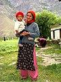 Mother and child. Gandola Monastery. Lahaul, India. 2004.jpg