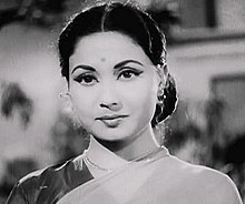 Movie still from Sharada (1957) cropped on Meena Kumari.jpg