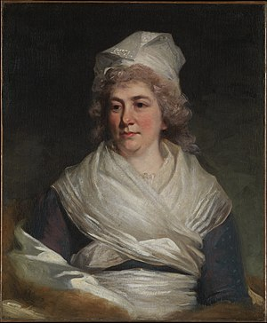 Richard Bache - Richard Bache's wife, Sarah Franklin, painted by John Hoppner (1793)