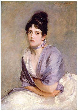 """Francis Davis Millet - Mrs Frank Millet (""""Lily"""", née Elizabeth Merrill), John Singer Sargent, 1885–1886"""