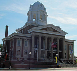 The courthouse in Greenville.
