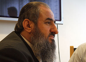 Mullah Krekar - Mullah Krekar at the meeting with the foreign press in Oslo where he made statements about Erna Solberg