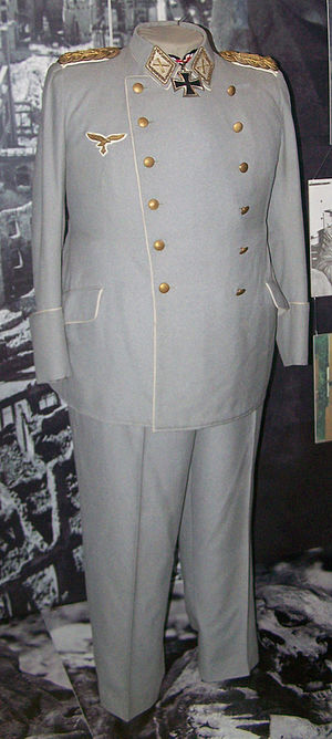 Reichsmarschall - The original uniform of Reichsmarschall Hermann Göring shown in the Luftwaffenmuseum der Bundeswehr in Berlin