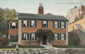 Roxbury, Boston - Munroe House, built in 1683, as seen in 1905