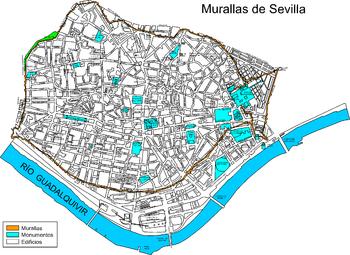 Plano de la ciudad durante el siglo XVII (los edificios, exceptuando algunos monumentos, no son de aquélla época, pertenecen al siglo XXI).