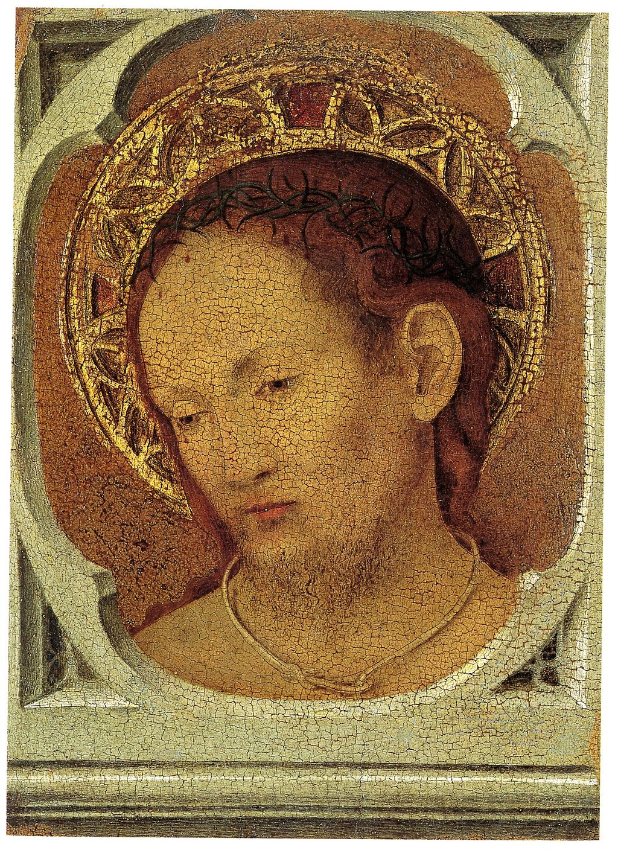 Antonello da Messina (1430–1479), Cristo in pietà (verso), 1465-1470 circa, tempera su tavola, 16×11,9 cm, Messina, Museo regionale