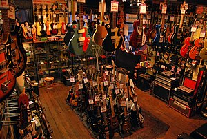 Denmark Street - Music shops grew in popularity on Denmark Street after the decline of music publishers in the 1960s.