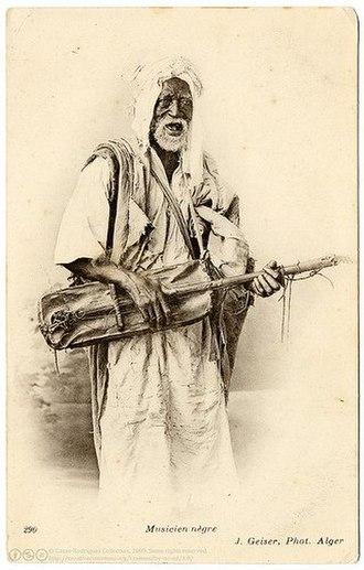 Gnawa - Image: Musicien nègre, J. Geiser, Alger