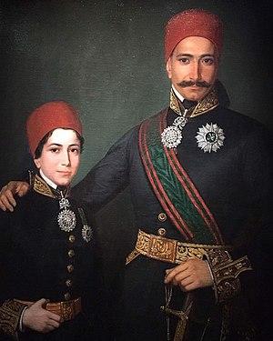 Mejba Revolt - Grand Vizier Mustapha Khaznadar and his son