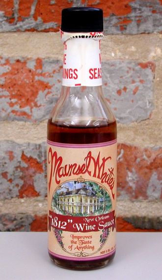 Maunsel White - A modern-day bottle of Maunsel White's 1812 Sauce.